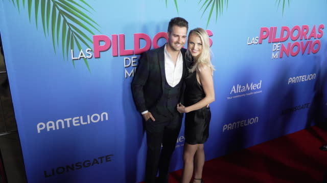 james maslow and caitlin spears at the las pildoras de mi novio premiere at arclight hollywood on february 18 2020 in hollywood california - arclight cinemas hollywood stock videos & royalty-free footage
