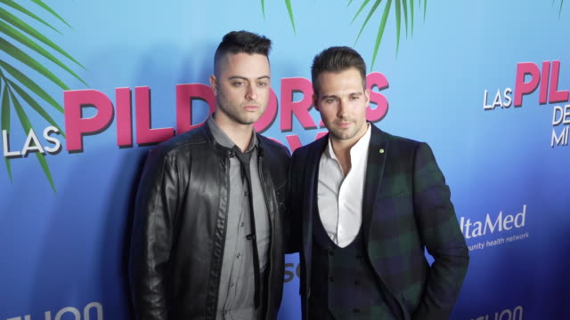 james maslow at the las pildoras de mi novio premiere at arclight hollywood on february 18 2020 in hollywood california - arclight cinemas hollywood stock videos & royalty-free footage