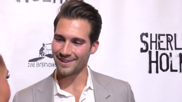 james maslow at the opening night of sir arthur conan doyle's sherlock holmes at the montalban theatre in hollywood celebrity sightings on october 15... - arthur conan doyle stock videos & royalty-free footage