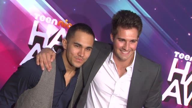 James Maslow Carlos Pena Jr at TeenNick HALO Awards on11/17/12 in Los Angeles CA