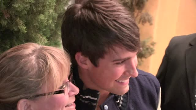 james maslow halston sage greets fans at that's my boy premiere at regency village theatre in westwood 06/04/12 - halston stock videos & royalty-free footage
