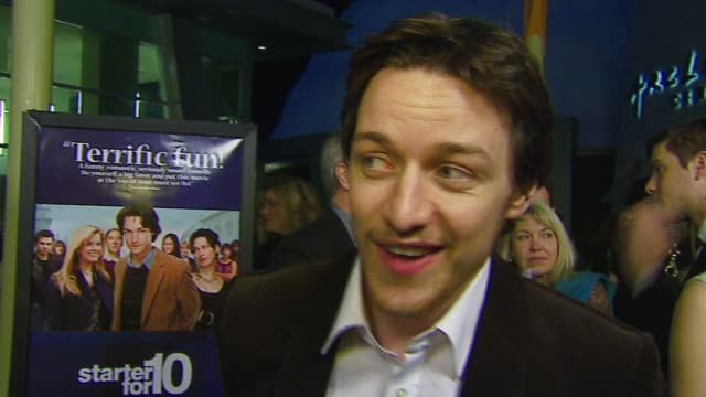 james mcavoy on the premiere, the film, working with tom hanks, forest whitaker's awards and nominations at the 'starter for 10' los angeles premiere... - arclight cinemas hollywood stock videos & royalty-free footage