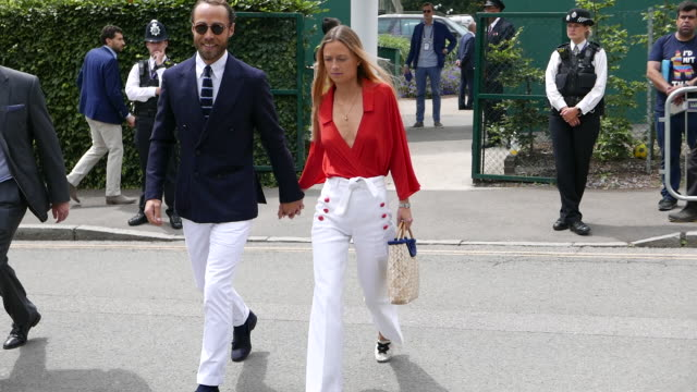james middleton attends the men's final on day 13 of the wimbledon 2019 tennis championships at all england lawn tennis and croquet club at celebrity... - final round stock videos & royalty-free footage
