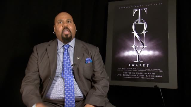 interview james monroe iglehart he's absolutely ecstatic about the nomination he's a character on how he was watching live he jumped up and cried his... - musical theater stock videos and b-roll footage