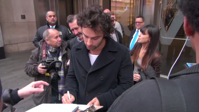 james nesbitt and aidan turner at the vh1 studios in new york ny on 12/7/12 - vh1 stock videos & royalty-free footage