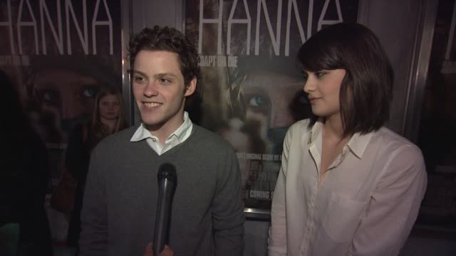 James Newman and Sofia Black D'Elia on why they came out tonight whey they want to see the film at the 'Hanna' Special Screening at New York NY