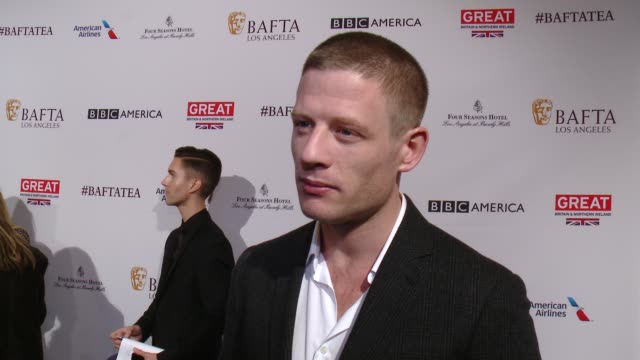 interview james norton on being at the event and on his picks for awards season at the bafta los angeles awards season tea party at four seasons... - tea party stock videos and b-roll footage