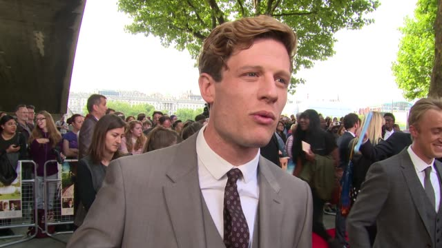interview james norton on the film tom felton his character and other roles at the 'belle' premiere at bfi southbank on 5 june 2014 in london england - bfi southbank stock videos & royalty-free footage