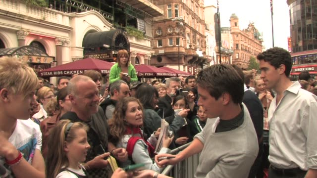 james phelps at the harry potter and the half blood prince experience launch at london england - james phelps stock videos & royalty-free footage
