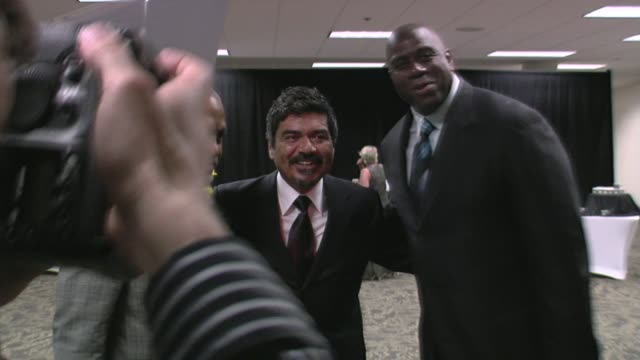 James Pickens George Lopez and Magic Johnson at the 29th Annual The Gift of Life Gala at the Hyatt Regency Century Plaza Hotel in Beverly Hills...