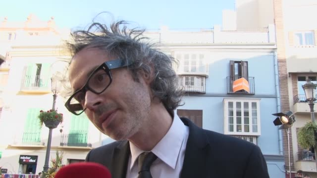 vídeos de stock e filmes b-roll de james rhodes, pianist, attends malaga´s film festival. the british pianist doesn´t want to talk about politicians and their actions. - festival cinematográfico