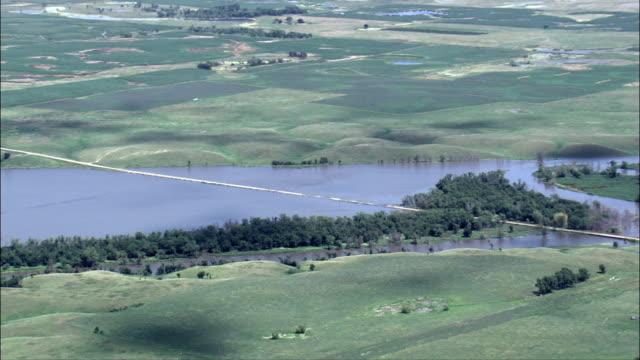 james river flooded near huron  - aerial view - south dakota, beadle county, united states - south dakota stock videos & royalty-free footage