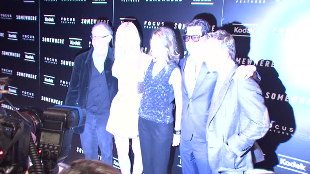 stockvideo's en b-roll-footage met james schamus elle fanning sofia coppola roman coppola and stephen dorff at the 'somewhere' special screening at new york ny - stephen dorff