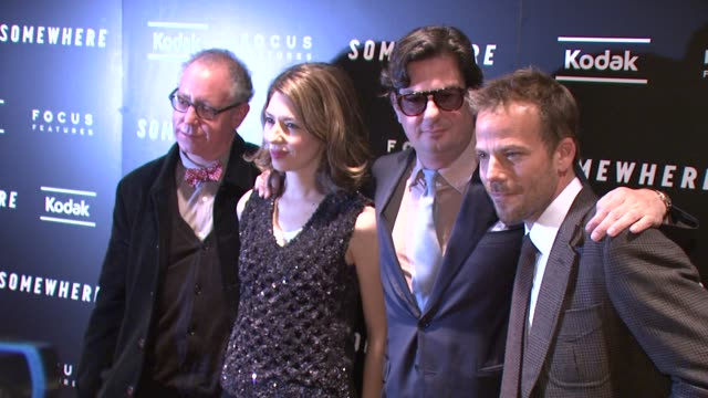 stockvideo's en b-roll-footage met james schamus sofia coppola roman coppola and stephen dorff at the 'somewhere' special screening at new york ny - stephen dorff