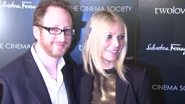 james shaw and gwyneth paltrow at the magnolia pictures and the cinema society present premiere of two lovers at new york ny. - 2009 stock videos & royalty-free footage