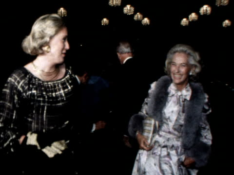 James Stewart and his wife arrive at a Hollywood dinner in honour of Prince Charles' visit to California October 1977