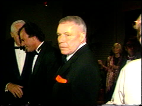 vídeos de stock e filmes b-roll de james stewart at the various events with frank sinatra on january 1 1993 - frank sinatra