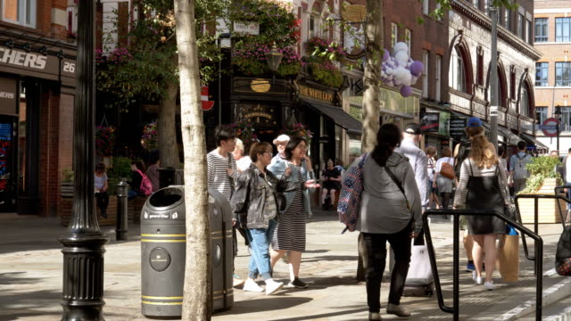james street in london covent garden - east asian ethnicity stock videos & royalty-free footage