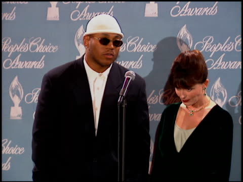 james todd ll cool j smith at the 1996 people's choice awards at universal studios in universal city, california on march 10, 1996. - people's choice awards stock videos & royalty-free footage