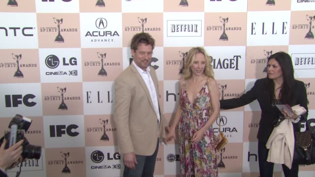 james tupper and anne heche at the 2011 independent spirit awards - arrivals part 2 at santa monica ca. - independent feature project stock videos & royalty-free footage