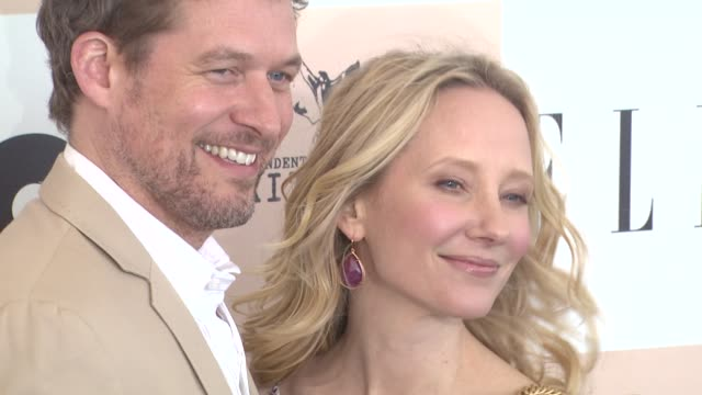 james tupper and anne heche at the 2011 independent spirit awards arrivals part 2 at santa monica ca - independent feature project stock videos & royalty-free footage