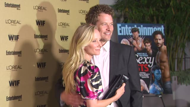 james tupper and anne heche at the entertainment weekly and women in film pre-emmy party at west hollywood ca. - pre emmy party stock videos & royalty-free footage