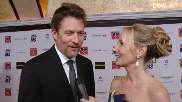 interview james tupper anne heche on why they're longtime supporters of this event if it's a date night of sorts how they prepared for their... - race to erase ms stock videos and b-roll footage