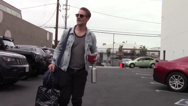 james van der beek arrives for dance practice at the dwts rehearsal studio in hollywood in celebrity sightings in los angeles - dancing with the stars stock videos & royalty-free footage