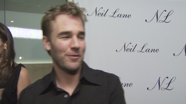 James Van Der Beek on attending tonight's event on if he's wearing any Neil Lane jewelry on the appeal of Neil Lane jewelry and on his well wishes...