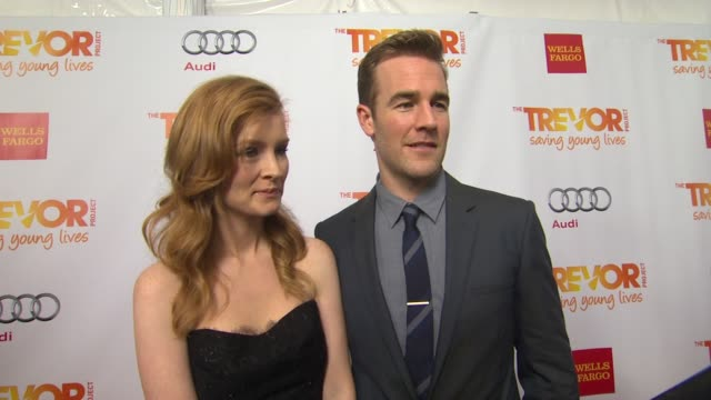 james van der beek why he supports the trevor project what he is most looking forward to and why katy perry is deserving of the trevor hero award at... - the trevor project stock videos and b-roll footage
