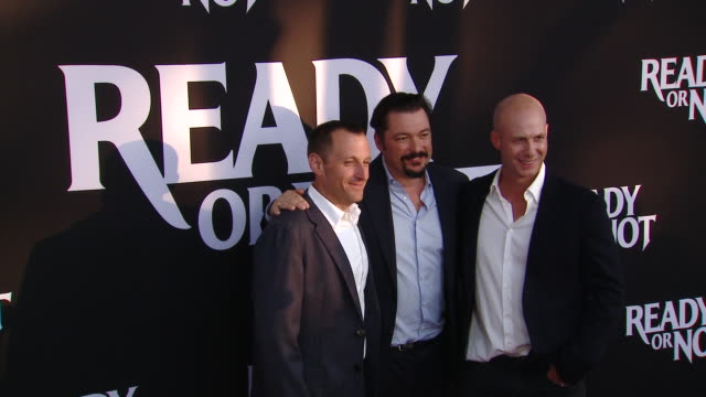 """james vanderbilt tripp vinson william sherack at the """"ready or not"""" los angeles special screening presented by fox searchlight pictures in los... - fox searchlight pictures stock videos & royalty-free footage"""