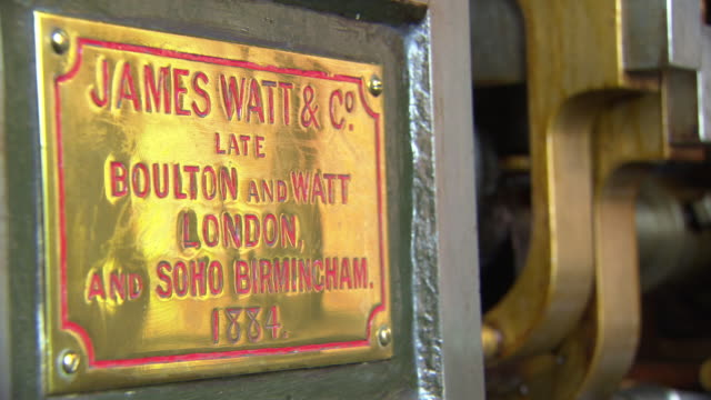 james watt plaque at  papplewick pumping station - pumping station stock videos & royalty-free footage
