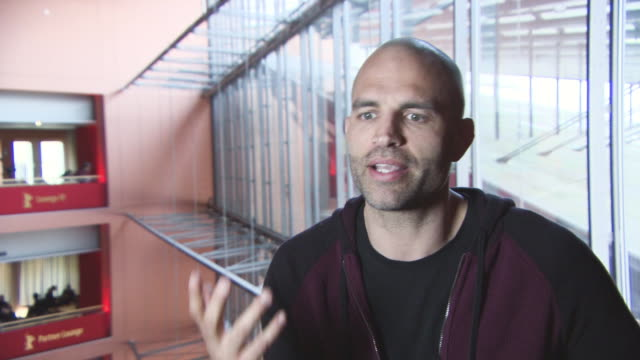 INTERVIEW James Wilks on top vegan athletes at 68th Berlin Film Festival The Game Changers Interviews at Berlinale Palast on February 19 2018 in...