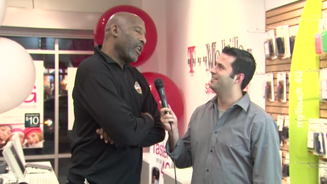 james worthy at the james worthy greets fans at tmobile and gears up for nba allstar 2011 in los angeles at studio city ca - studio city stock videos & royalty-free footage