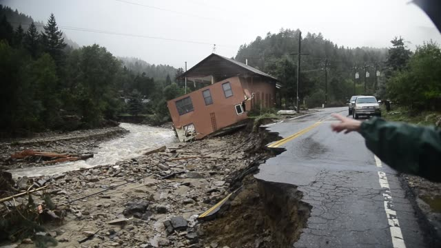 jamestown resident and the chief of ems for jamestown fire department colleen williams talks about how the flood waters changed the course of james... - jamestown stock-videos und b-roll-filmmaterial