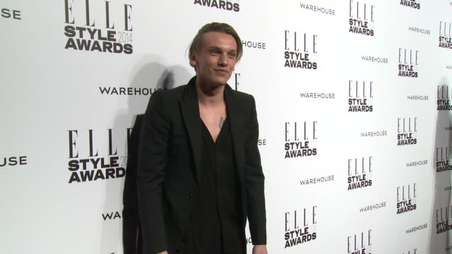 jamie campbell bower at elle style awards arrivals at one embankment on february 18 2014 in london england - embankment stock videos and b-roll footage