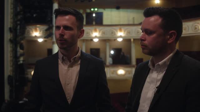 jamie chapman dixon + john-webb carter - producers, deathdrop + wonderment london, uk april 21: – jamie chapman dixon reveals how the covid-19... - celebrities stock videos & royalty-free footage