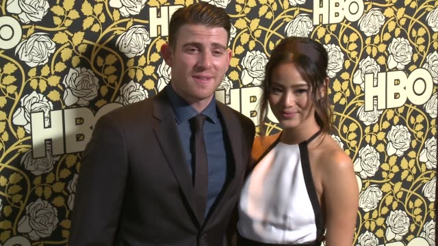 Jamie Chung and Bryan Greenberg at HBO's Post 2016 Golden Globe Awards Party at Circa 55 Restaurant on January 10 2016 in Los Angeles California