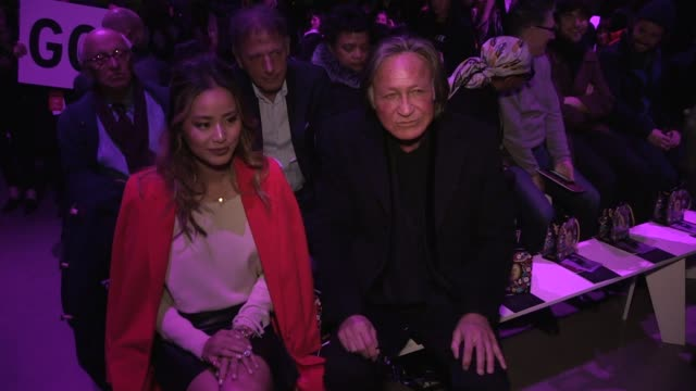 Jamie Chung and Mohamed Hadid front row for the Anna Sui Ready to Wear Fall Winter 2018 Fashion Show in New York City New York City USA on Monday...