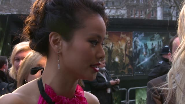 Jamie Chung at the Sucker Punch UK Premiere at London England