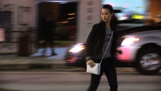 Jamie Chung departing Siren Studios in Hollywood in Celebrity Sightings in Los Angeles