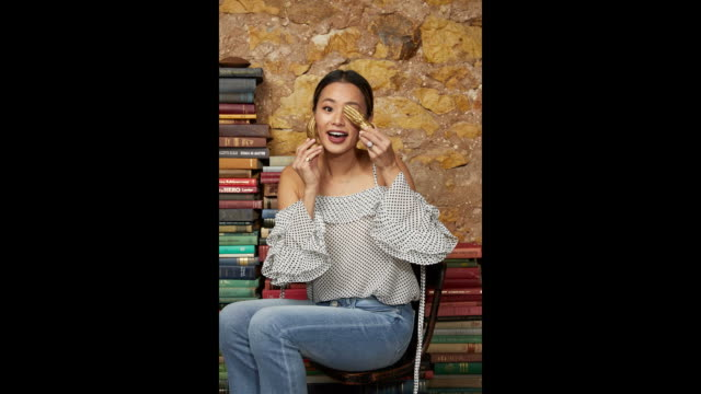 Jamie Chung from the film 1985 poses for a portrait in the Getty Images Portrait Studio Powered by Pizza Hut at the 2018 SXSW Film Festival on March...