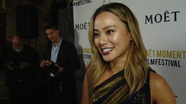 INTERVIEW Jamie Chung on the cocktail she created for this year's Golden Globes and what moment she is looking forward to toasting to at Moet Chandon...