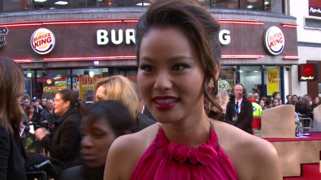 Jamie Chung on the film reading the script Zack and more at the Sucker Punch UK Premiere at London England