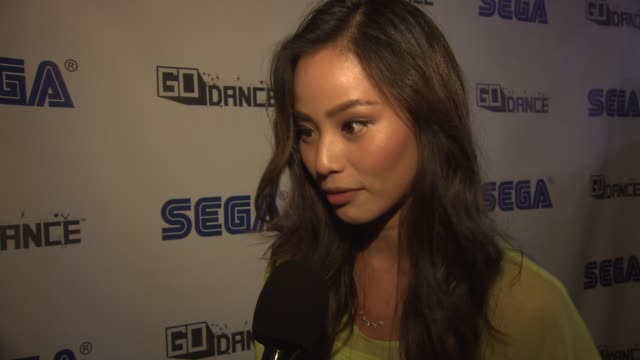 INTERVIEW Jamie Chung says it's brilliant that you can take this game with you at Sega GO DANCE Mobile Game Unveil Party on September 05 2013 at STK...