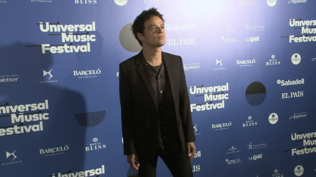 jamie cullum attends universal music festival 2019 photocall - jamie cullum stock videos & royalty-free footage