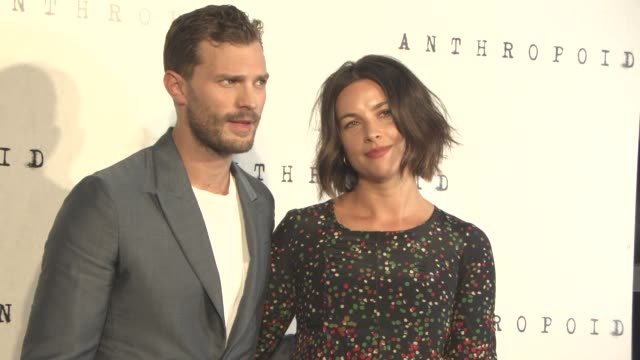 jamie dornan, amelia warner at 'anthropoid' film premiere at bfi southbank on august 30, 2016 in london, england. - bfi southbank stock videos & royalty-free footage