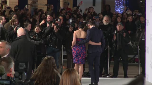 CAPSULE Jamie Dornan Ashley Roberts E L James at 50 Shades of Grey UK premiere on 12th February 2015 in London England