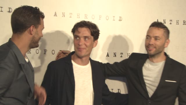 jamie dornan, cillian murphy, sean ellis at 'anthropoid' film premiere at bfi southbank on august 30, 2016 in london, england. - bfi southbank stock videos & royalty-free footage