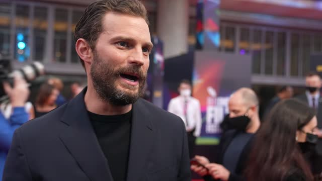 jamie dornan on adding a accent to his character, the film being personal, kenneth branagh as a director, being born in belfast during the troubles,... - grey colour stock videos & royalty-free footage